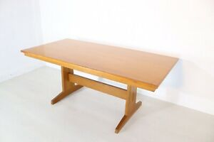 Peter Wahls Style Arts & Crafts Solid Oak Dining Table Stunning Craftsmanship