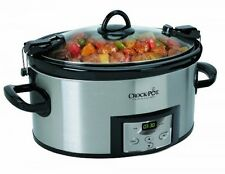 Crock-Pot Programmable Cook and Carry Oval Slow Cooker, SCCPVL610-S, New