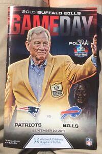 2015 Buffalo Bills vs New England Patriots Program, 9/20/15