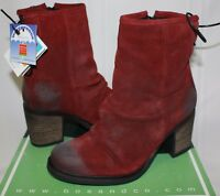 Bos & Co Barlow Scarlet Red Waterproof Oiled Suede Boots NEW WITH BOX!