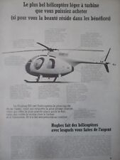 4/1970 PUB HUGHES 500 HELICOPTER HELICOPTERE HUBSCHRAUBER ORIGINAL FRENCH AD