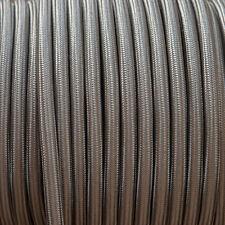 ELEFANTE GRIGIO Rotondo Intrecciato Tessuto Cavo MEX 0.5 MM per tutti di illuminazione
