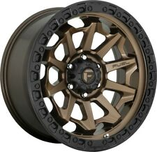 "4-Fuel D696 Covert 17x9 5x5"" -12mm Bronze Wheels Rims 17"" Inch Jeep JK JL JT"