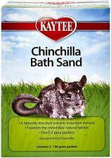 Kaytee Chinchilla Bath Sand Low-Dust Volcanic Mountain Mineral 5 -140 Gram Packs