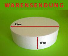 Styropor-Scheibe Torte Ø 25 Höhe 10 cm Rohling Dummy Hochzeit Cake Grundlage