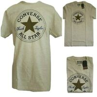 Converse Men Chuck Taylor All Star Size Small Crew Neck T Shirt Color Light Gray