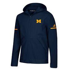 Michigan Wolverines NCAA Adidas Men's 2018 Sideline Navy Blue Woven Jacket