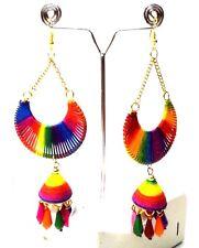 Earrings Jhumka Chand Bali Drop Dangle Long Hoop Hook LGBT Boho Chic Jewelry B36
