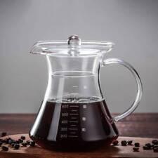 800ml Heat-Resistant Glass Coffee Pot Tea Juice Water Kettle Jug Pot with Lid