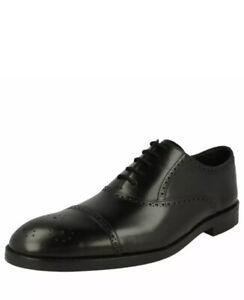 Clarks Men's Oliver Limit Black Leather Craftmaster Shoes UK 10.5 H Wide Fit