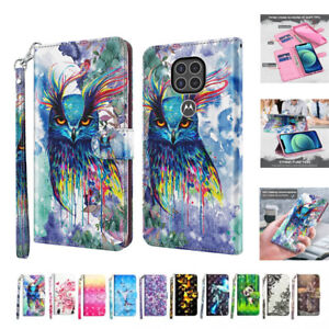 Pattern Leather Wallet Case For Motorola Moto G9 Plus G8 Power Lite E6 G7 Play