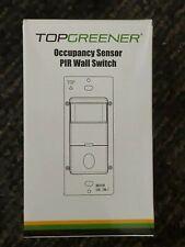 Topgreener TDOS5 Motion Sensor Light Switch PIR Occupancy Detector - White