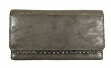 ** INC INTERNATIONAL CONCEPTS VALLIEE Grey Leather Wallet Msrp $49.50