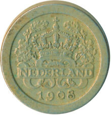 COIN / THE NETHERLANDS / 5 CENT 1908  #WT6354
