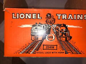 Lionel Original 2549W Super O Military Set Box Only
