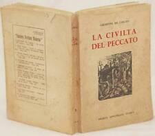GIUSEPPE DE LIBERO LA CIVILTA DEL PECCATO PITY PITIES DIEGO PETTINELLI 1945