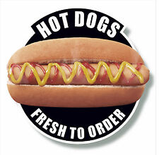 HOT DOGS 2ft plastic wall sign plaque  RED BLACK BLUE  cafe coffee shop kiosk