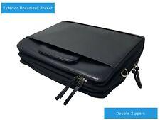 Men/Women 3-RING BINDER FOLDER PORTFOLIO ORGANIZER PLANNER + Briefcase Handle