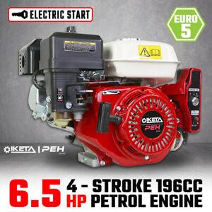 6.5HP OHV Petrol Engine Stationary Motor Horizontal Shaft Electric Start Recoil