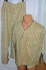 Vintage Mens Pajamas Citation 100% cotton Sanforized Deadstock Large size C