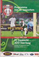 Programme / Programma FC Dordrecht v ADO Den Haag 14-09-2007