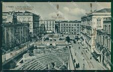 Catania Città Anfiteatro Greco RIFILATA ABRASA cartolina VK0373