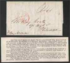 Liberia 1840 missionary lettersheet to Phladelphia from Governor Thos. Buchanan