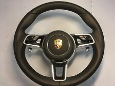 PORSCHE CAYENNE-MACAN-PANAMERA BROWN STEERING WHEEL WITH PADDLE SHIFTERS+AIRBAG