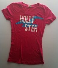 Hollister Womens Size XS Pink Graphic T-Shirt Great Condition