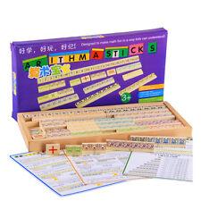 Wooden toy baby gift arithmasticks Montessori education tool Arithmetic game set