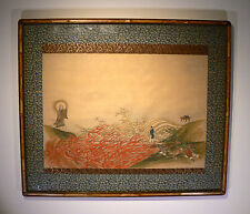 IMPORTANT Antique Painting The Parable of the White Path Chinese Tibetan Buddha