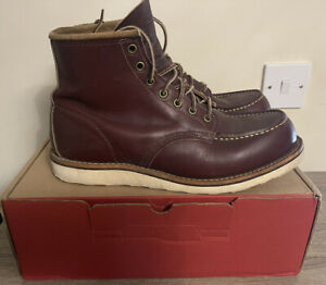 Red Wing Classic Moc Toe Boots Oxblood Mesa 8856 UK 9 NO RESERVE