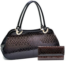 New 2018 Dasein Women Classic Snake Skin Shoulder Bag with Free Matching Wallet