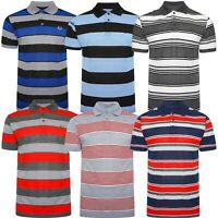 Mens Polo T-Shirt Designer Short Sleeve Striped Shirt Top Branded Collared Tee