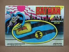 BATMAN Grimefighter 2 Gift Set 1989 DC Comics Soap-on-a-Rope Anti-Chap Lip Watch