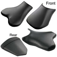 For Honda Suzuki Yamaha Ducati KTM Harley Front Rear Seat Pad Leather Cover