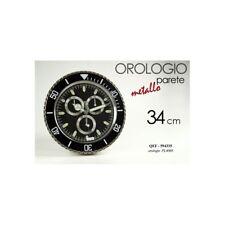 Orologio da parete quadrante in metallo Cm. 34