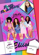 Little Mix Personalised Birthday Card with PRINTED envelope and MESSAGE inside!
