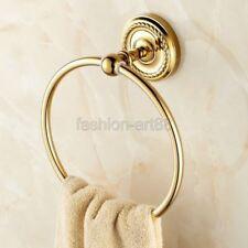 Gold Color Brass Towel Ring Holder Bathroom Hardware Bath Accessories fba605