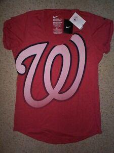 ($32) NIKE Washington Nationals Jersey Shirt Adult WOMENS/WOMEN'S (s-sm-small)
