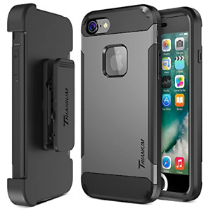 iPhone 7 Protective Case With Screen Protector Holster Belt Clip Kickstand Phone