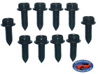 Ford Body Fender Grille Trunk Frame Factory Correct 516-18 Bolt Bolts 10pcs R