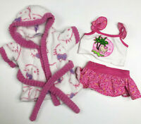 Build A Bear Clothes Hello Kitty Bath Robe Beach Shirt Skirt Outfit