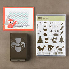 Stampin Up Foxy Friends Punch and Stamp Set - Foxes, Cats, - NEW - So Cute!
