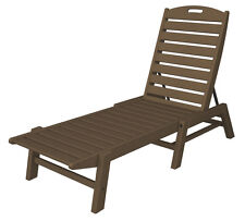 POLYWOOD Nautical Chaise - Stackable in Teak NAC2280TE Chaise NEW