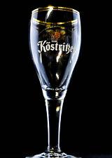 Köstritzer Schwarzbier Glas, Gläser, Bierglas, Biergläser, Pokal Goldrand 0,3l