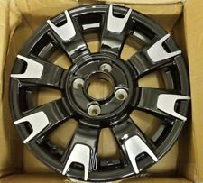 "GENUINE FIAT 500 14"" black & Diamond 8 Spoke Alloy Wheels 50927756"