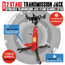 NEW 2 Stage Hydraulic High Lift Transmission Jack Stand Gearbox Lifter Hoist 0.5