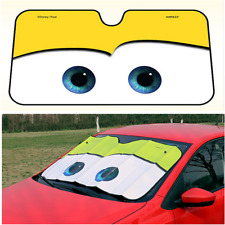 Yellow Big Eyes Cat Car Sunshade Visor Folding Auto SUV Windshield Block Cover