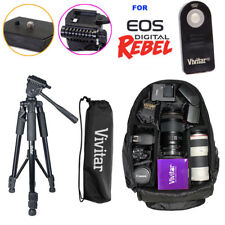"52"" TRIPOD + VIVITAR BACKPACK+IR REMOTE KIT FOR CANON EOS REBEL T5 T5I T6T6I T3I"
